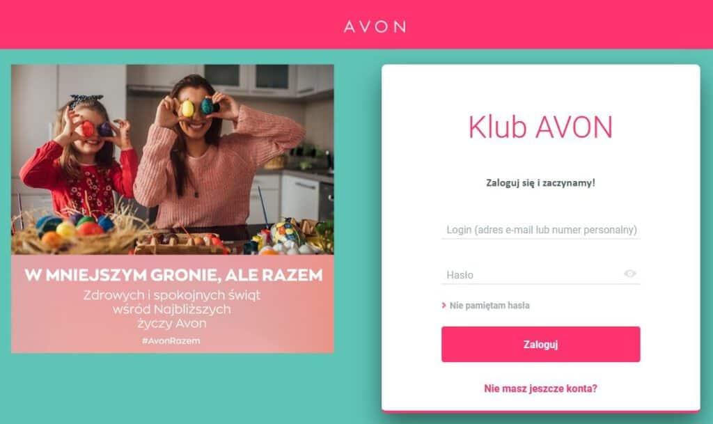 Logowanie do strefy konsultantki Avon